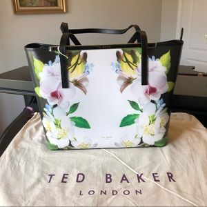 Ted Baker Livana Forget-Me-Not Large Black Tote